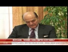 """Mea culpa di Bersani: """"Le nostre primarie con qualche sbavatura"""". Il segretario Pd: """"Bravo Caldoro, ma la Campania è una regione allo sbando"""""""