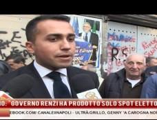 """Grillo: """"In Italia ci indigniamo per Genny 'a carogna e non se un condannato viene ricevuto in Quirinale"""". Il leader M5S alla Sanità: """"Se fossi stato napoletano avrei fischiato l'inno"""".  Di Maio: """"Renzi bravo a produrre spot elettorali"""""""