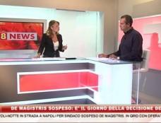 """""""Io vittima ma fiducioso nel Tar"""": il sindaco sospeso De Magistris negli studi di 8News"""