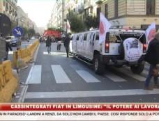 La protesta in limousine dei cassintegrati Fiat