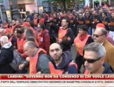 """Landini: """"Il Governo non ha il consenso di chi vuole lavorare"""""""