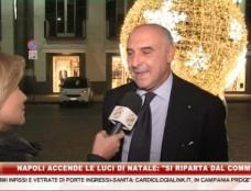 """Napoli accende le luci di natale: """"Si riparta dal commercio"""""""