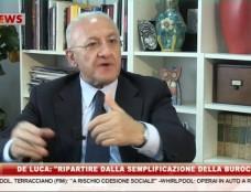 """De Luca: """"Vi racconto tutte le frottole del presidente (pro tempore) Caldoro"""""""